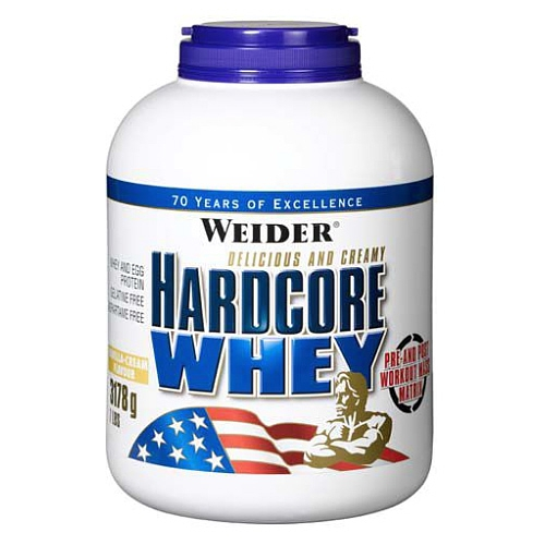 Weider Weight Gainer Hardcore Whey, 3178g Dose